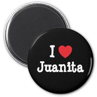 私はJuanitaのハートのTシャツを愛します マグネット