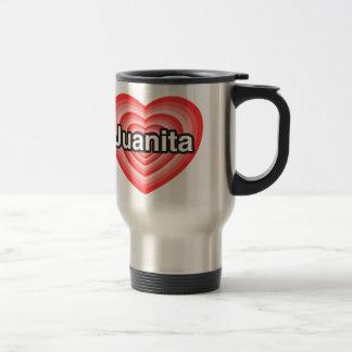 私はJuanitaを愛します。 私はJuanita愛します。 ハート トラベルマグ