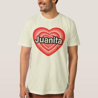 私はJuanitaを愛します。 私はJuanita愛します。 ハート Tシャツ