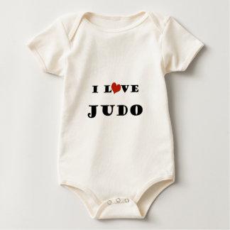 私はJudo.pngを愛します ベビーボディスーツ