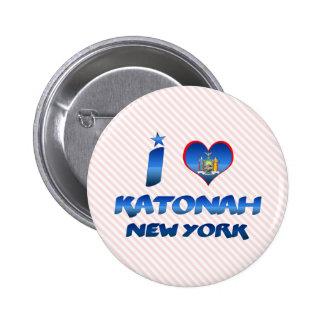 私はKatonah、ニューヨークを愛します 5.7cm 丸型バッジ