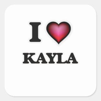 私はKaylaを愛します スクエアシール