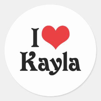 私はKaylaを愛します ラウンドシール