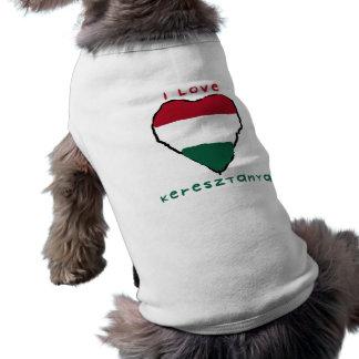 私はKeresztanyaの小犬によって肋骨で補強されるタンクトップを愛します ペット服