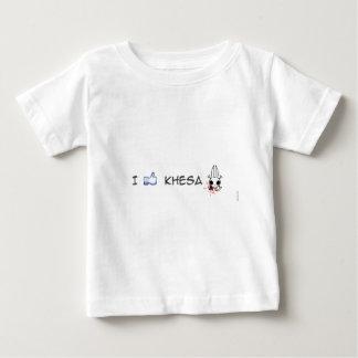私はkhesaを好みます ベビーTシャツ