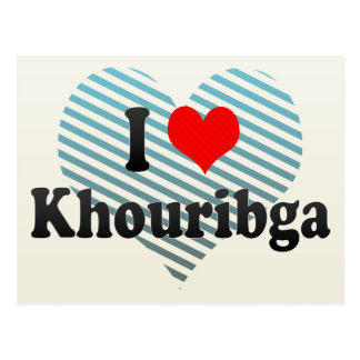 私はKhouribga、モロッコを愛します ポストカード