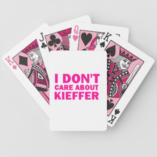 私はKiefferについて気になりません! バイスクルトランプ