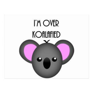 私はKoalafied -おもしろいなコアラ動物のしゃれにあります ポストカード