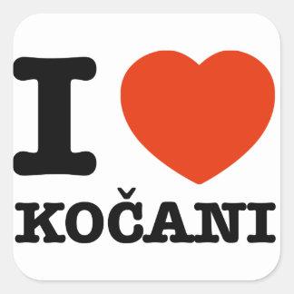 私はKocaniを愛します スクエアシール