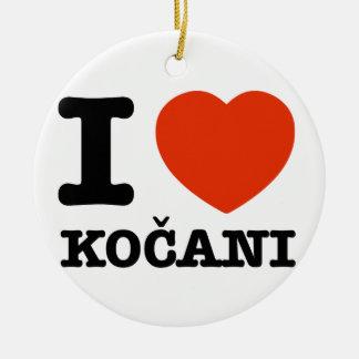 私はKocaniを愛します セラミックオーナメント