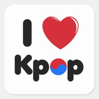 私はkpopの正方形のステッカーを愛します スクエアシール