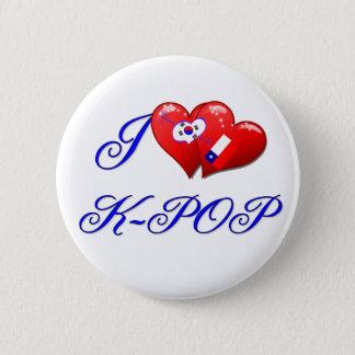 私はKPOPを愛します 5.7CM 丸型バッジ