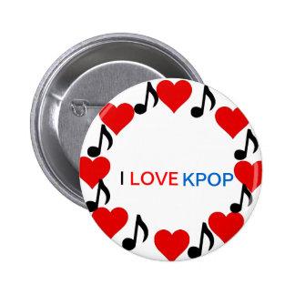 私はKPOPボタンのバッジを愛します 5.7CM 丸型バッジ