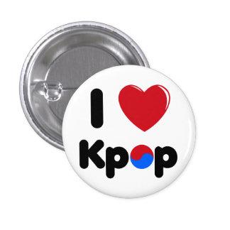 私はkpopボタンを愛します 3.2cm 丸型バッジ