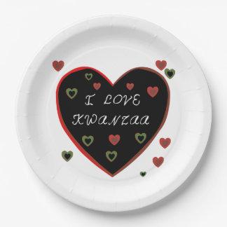 私はKwanzaa Kwanzaaのパーティーの紙皿を愛します ペーパープレート