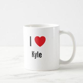 私はKyleを愛します コーヒーマグカップ
