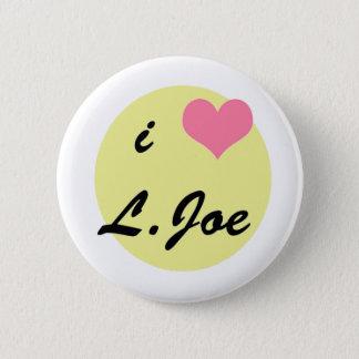 私はL.ジョーを愛します 5.7CM 丸型バッジ