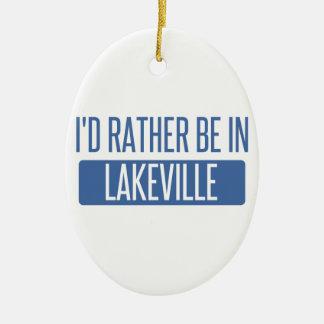 私はLakevilleにむしろいます セラミックオーナメント