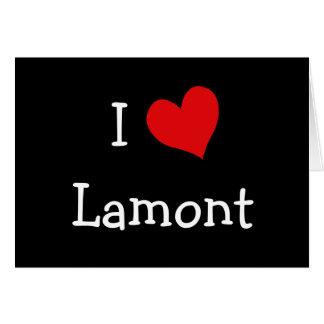 私はLamontを愛します カード