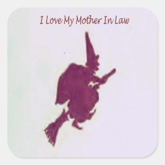 私はlaw1の私の母を愛します スクエアシール