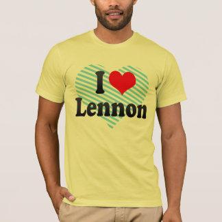 私はLennonを愛します Tシャツ