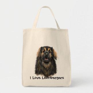 私はLeonbergersのトートバックを愛します トートバッグ