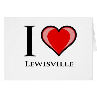 私はLewisvilleを愛します カード