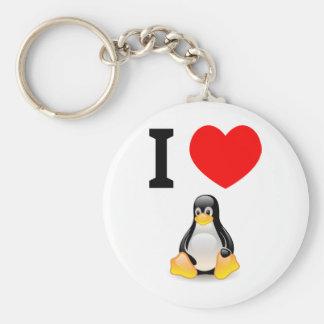 私はLinuxを愛します キーホルダー