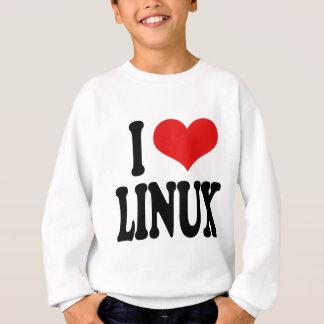 私はLinuxを愛します スウェットシャツ