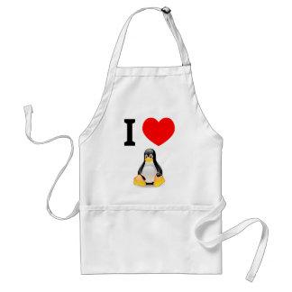 私はLinuxを愛します スタンダードエプロン