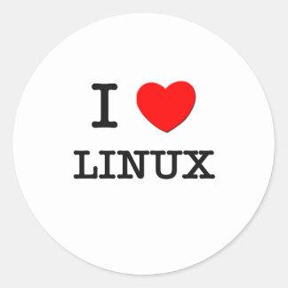 私はLINUXを愛します ラウンドシール