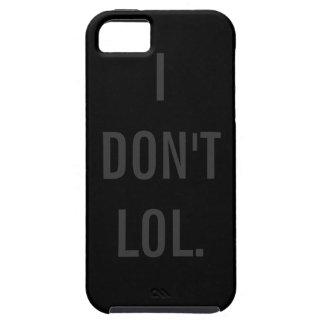 私はLOLの黒い背景 iPhone SE/5/5s ケース