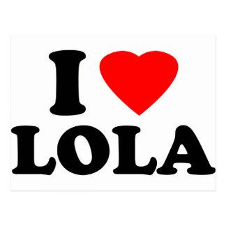 私はLolaを愛します ポストカード