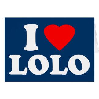 私はLoloを愛します カード
