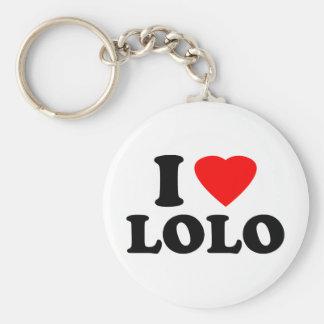 私はLoloを愛します キーホルダー