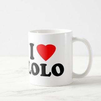 私はLoloを愛します コーヒーマグカップ
