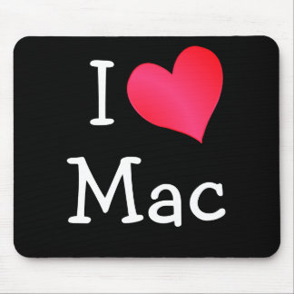 私はMacを愛します マウスパッド