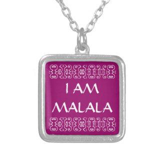 私はMALALA 2です シルバープレートネックレス