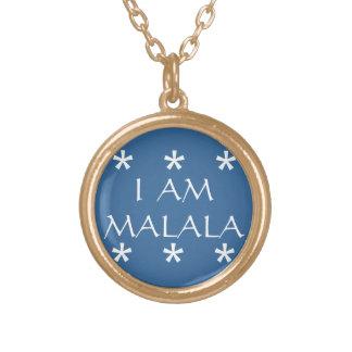 私はMALALA 3です ゴールドプレートネックレス