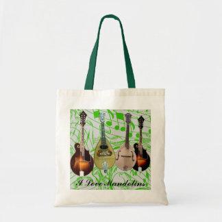 私はMANDOLINS-BAGを愛します トートバッグ