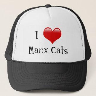 私はManx猫を愛します キャップ