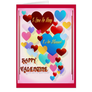 私はMany~valentineをそう愛します カード