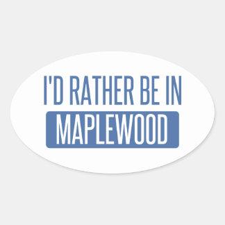 私はMaplewoodにむしろあります 楕円形シール