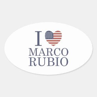 私はMarcoルビオを愛します 楕円形シール