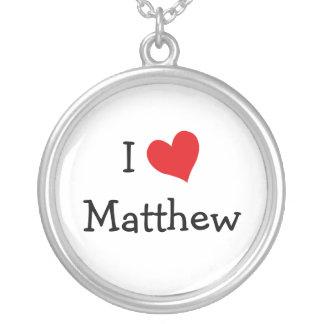 私はMatthewのネックレスを愛します シルバープレートネックレス