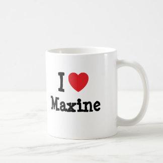 私はMaxineのハートのTシャツを愛します コーヒーマグカップ