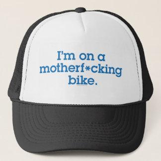 私はMFのバイク-きれいな帽子にあります キャップ