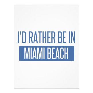 私はMiami Beachにむしろいます レターヘッド