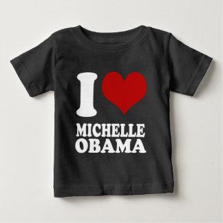 私はMichellオバマを愛します ベビーTシャツ