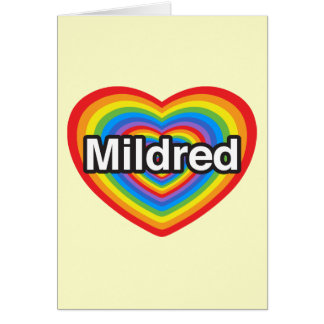 私はMildredを愛します。 私はMildred愛します。 ハート カード